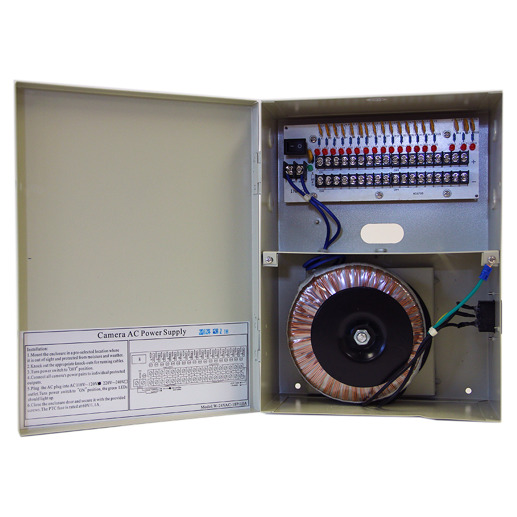 16 Channel CCTV Power Distribution Box
