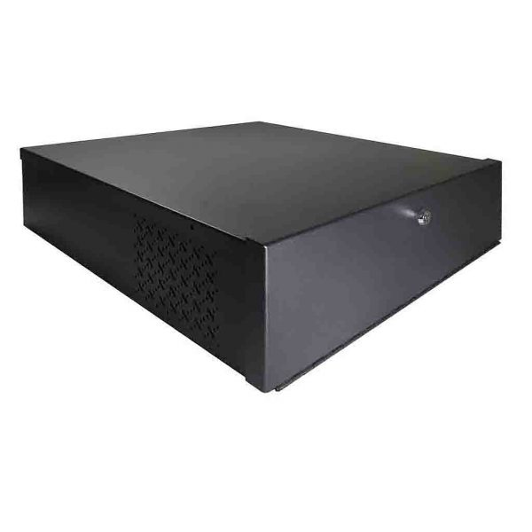 18x18x5 Small Steel Lockbox with fan designed for 1U DVRs & NVRs