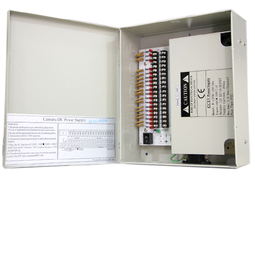 18 Channel 12V DC High Power CCTV Power Distribution Box
