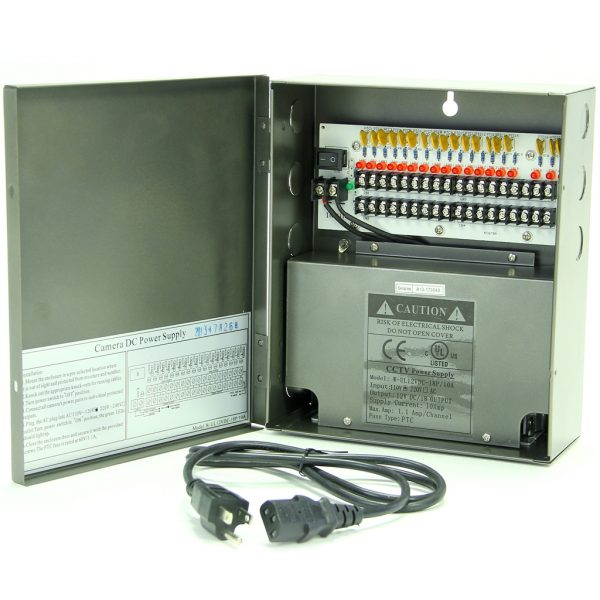 18ch 12VDC 10amp UL Listed Power Distribution Box