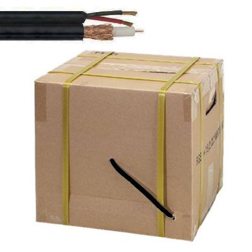 500ft Siamese RG59/18-2 Black Cable In Box