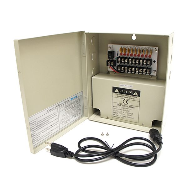 9 Channel 12V DC High Power CCTV Power Distribution Box
