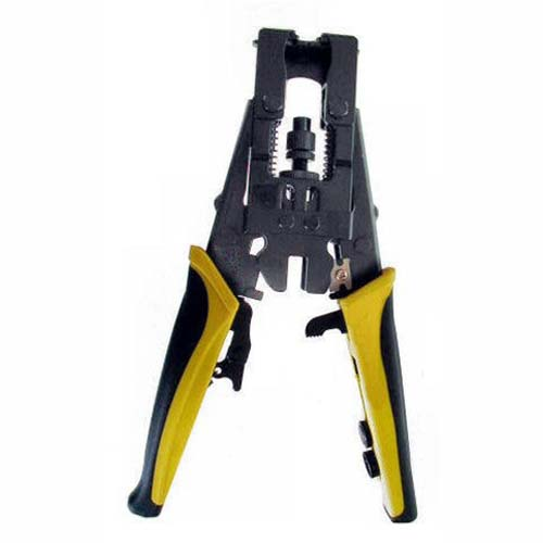 Adjustable Push and Lock Crimp Tool for F""