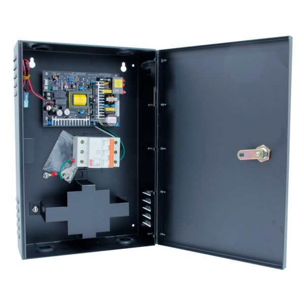 Access Control Power Distribution Box with Battery Backup