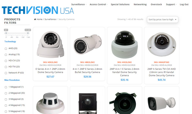 Online Security Equipment Dealer